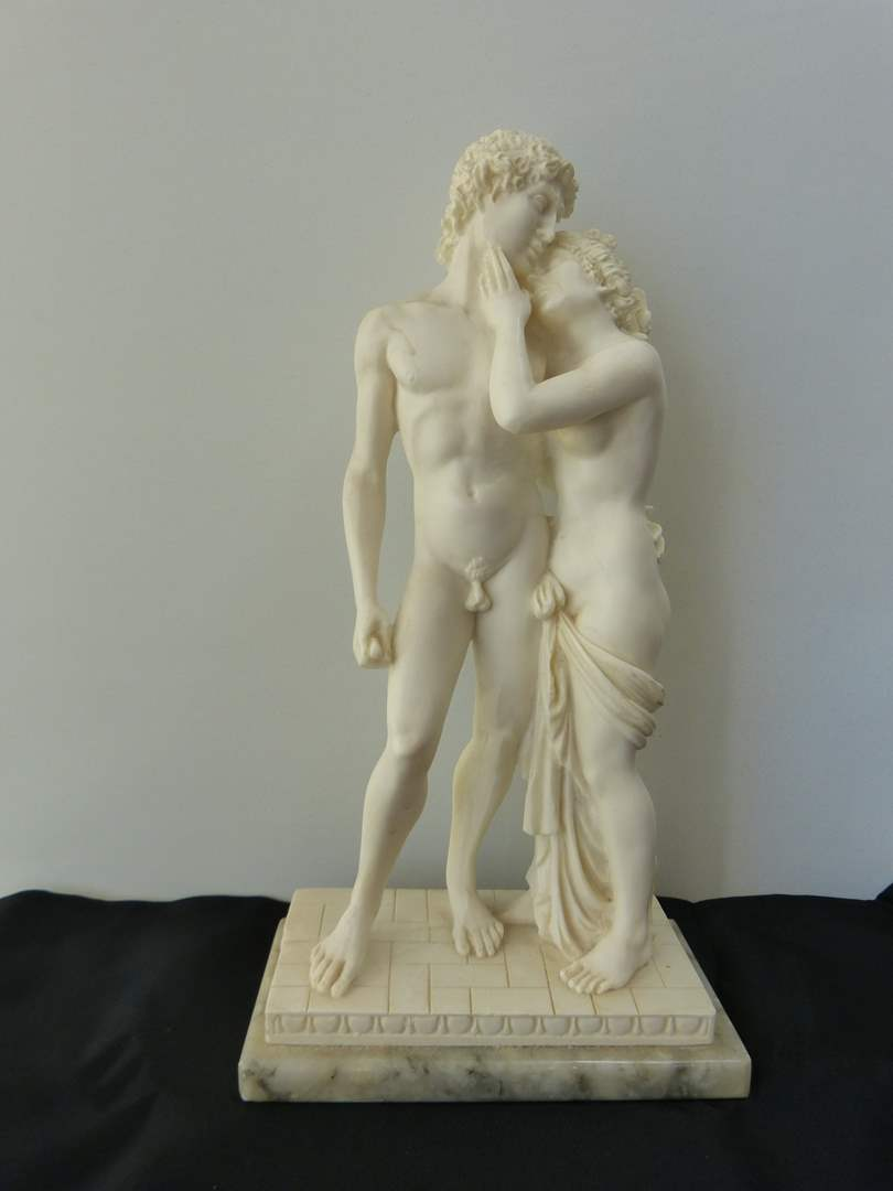 Lot # 133  Great (ivorine) state nudes on marble base (main image)