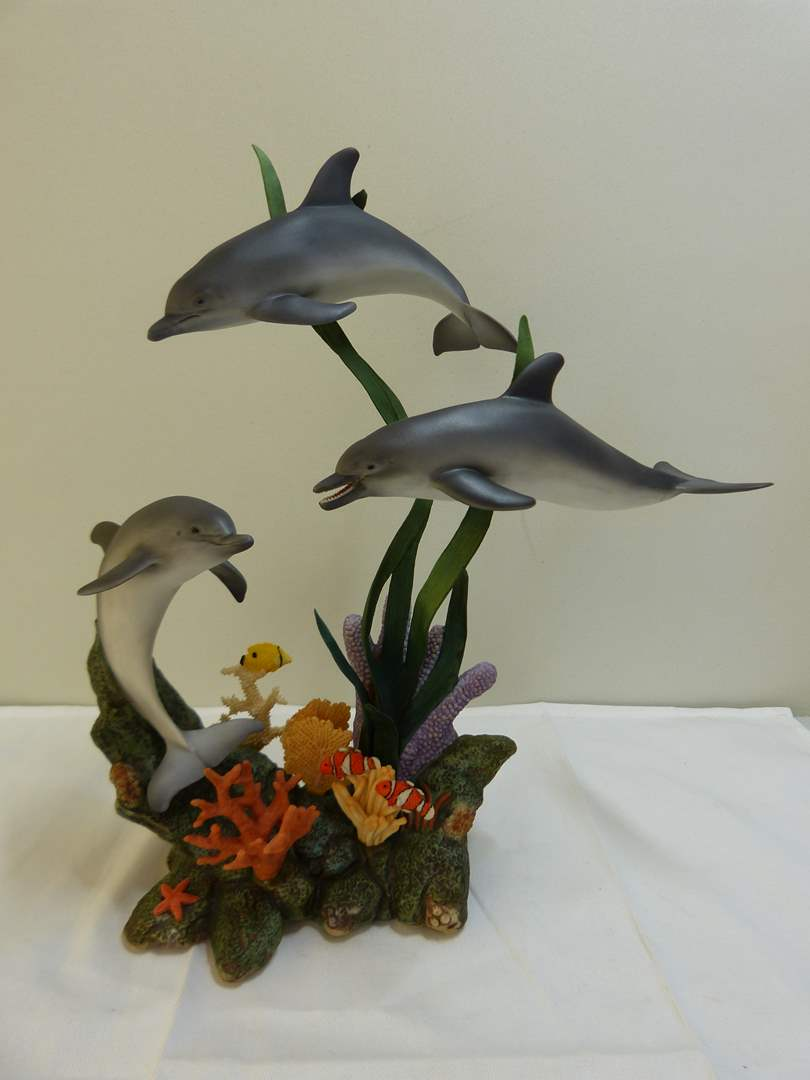 """Lot # 141  Collectible Murani Limited edition """"Waltz of the Dolphins"""" figure (main image)"""