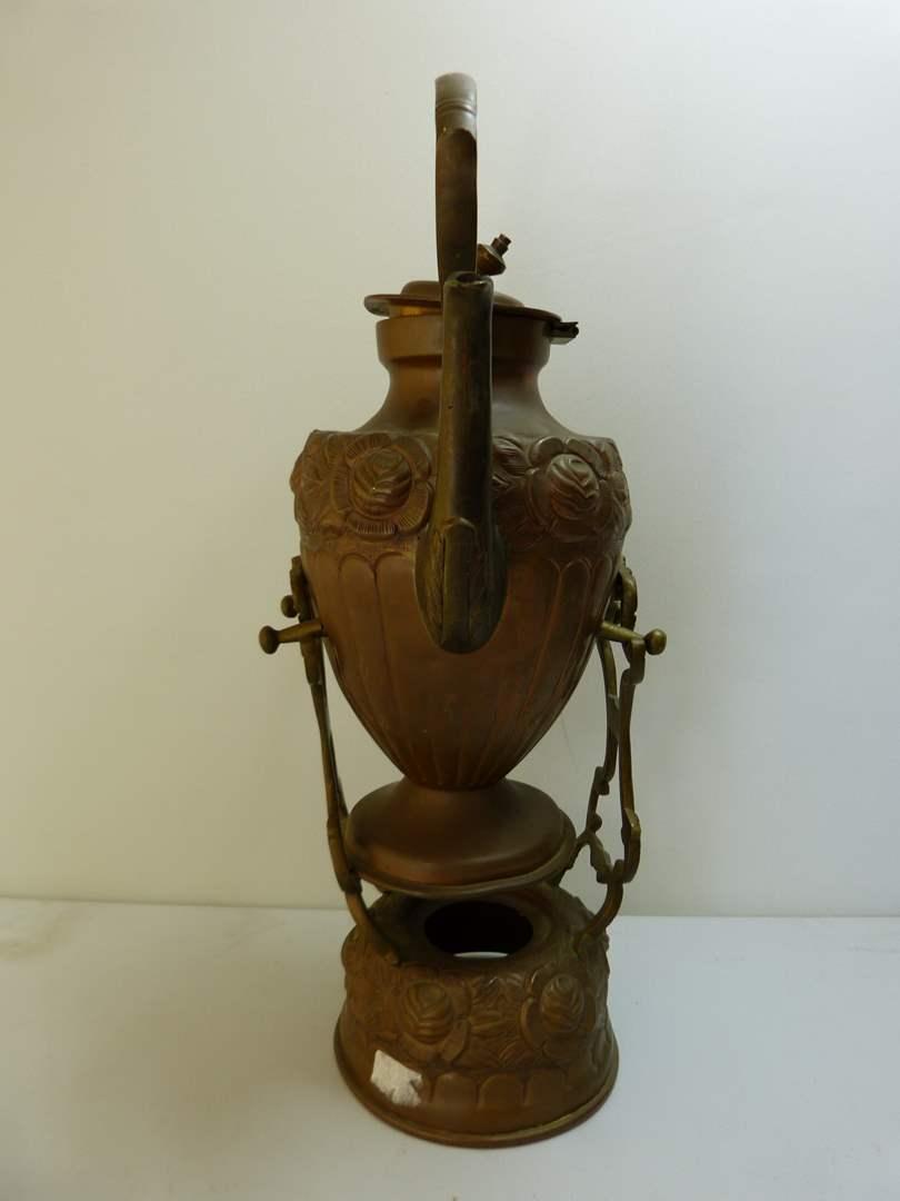 Lot # 144  Vintage brass/copper teapot (main image)