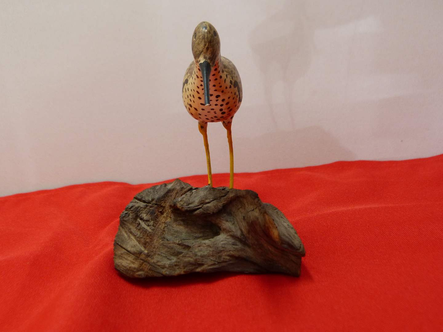 Lot # 175  FANTASTIC hand carved water bird on driftwood (main image)