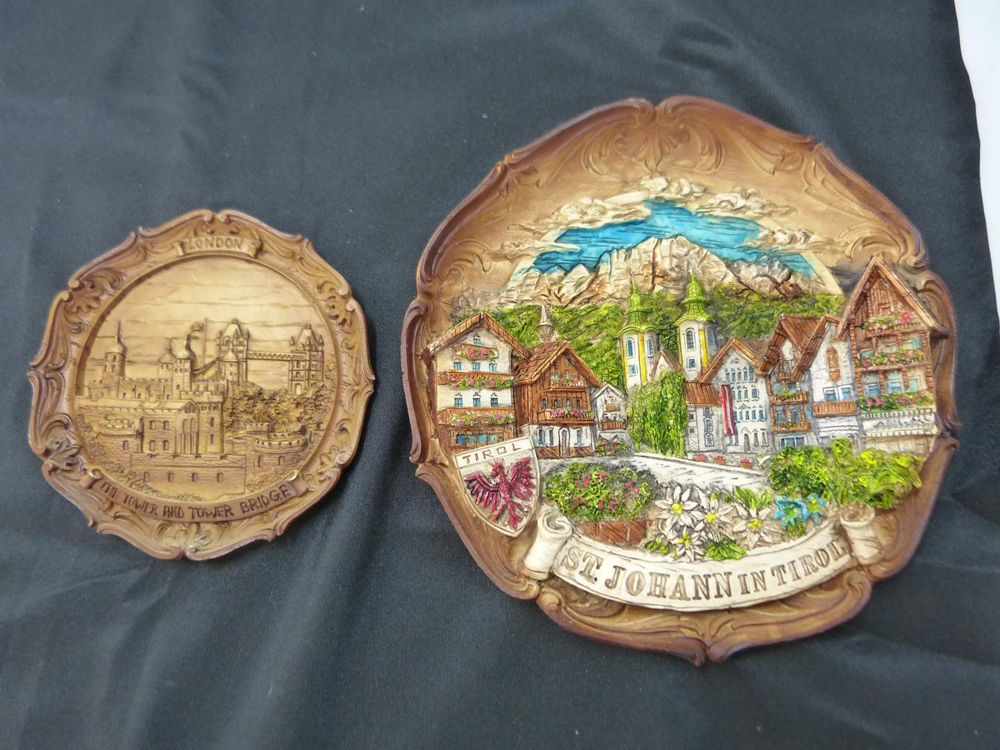 Lot # 186  2 Great Germany travel (wood style) wall decor (main image)