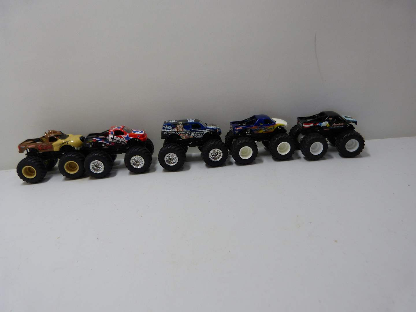 Lot # 229  Collection of 5 Monster trucks (lightly used condition) (main image)