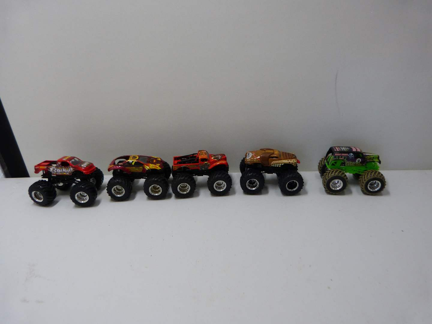 Lot # 232  Collection of 5 Monster trucks (lightly used condition) (main image)