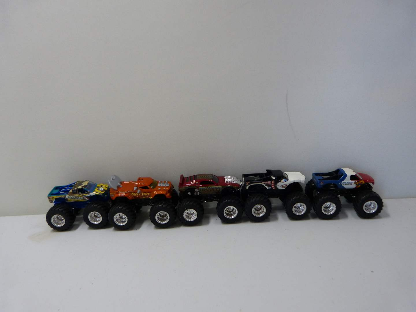 Lot # 233  Collection of 5 Monster trucks (lightly used condition) (main image)