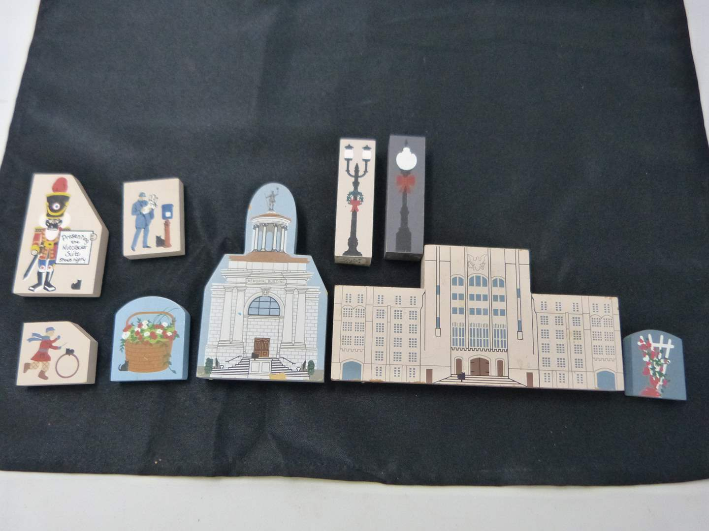 """Lot # 242  Collection of """"Cat's Meow"""" hand painted wood buildings) (main image)"""