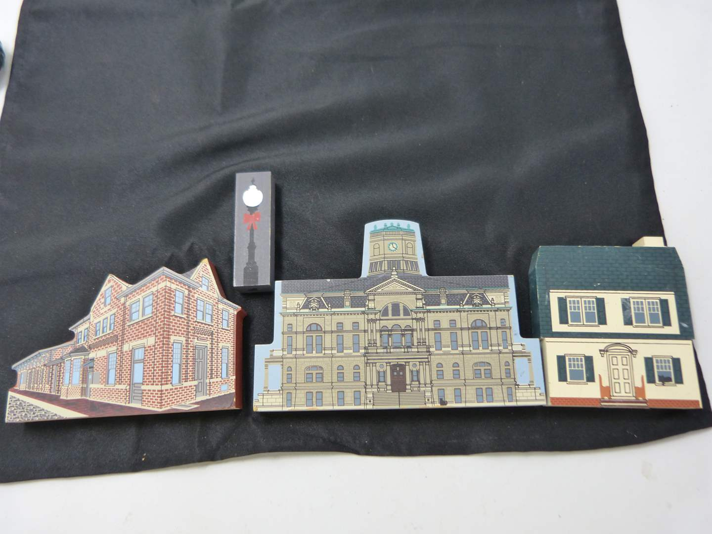 """Lot # 243   Collection of """"Cat's Meow"""" hand painted wood buildings)  (main image)"""