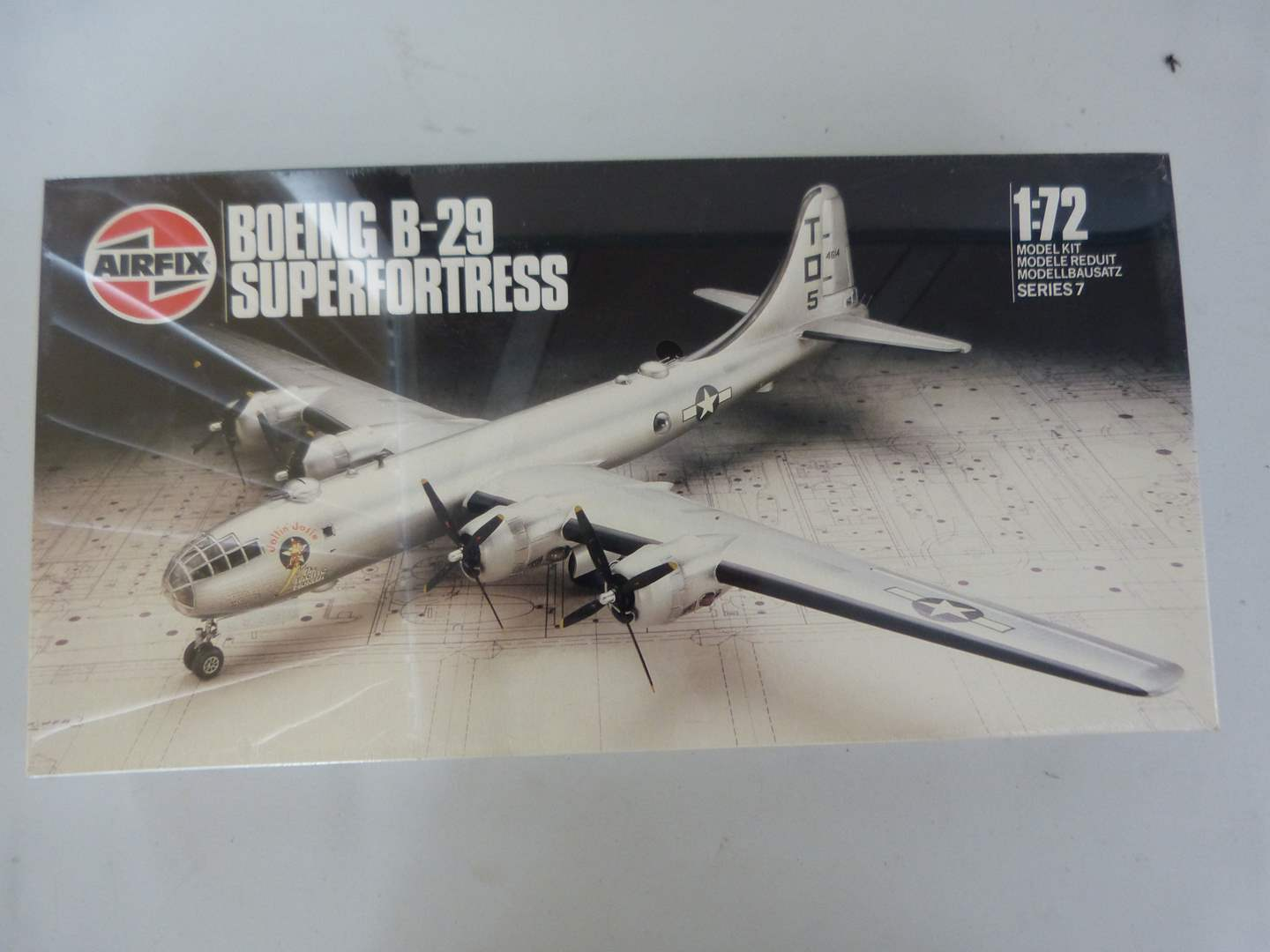 Lot # 255  Boeing B-29 Super Fortress never opened model (main image)