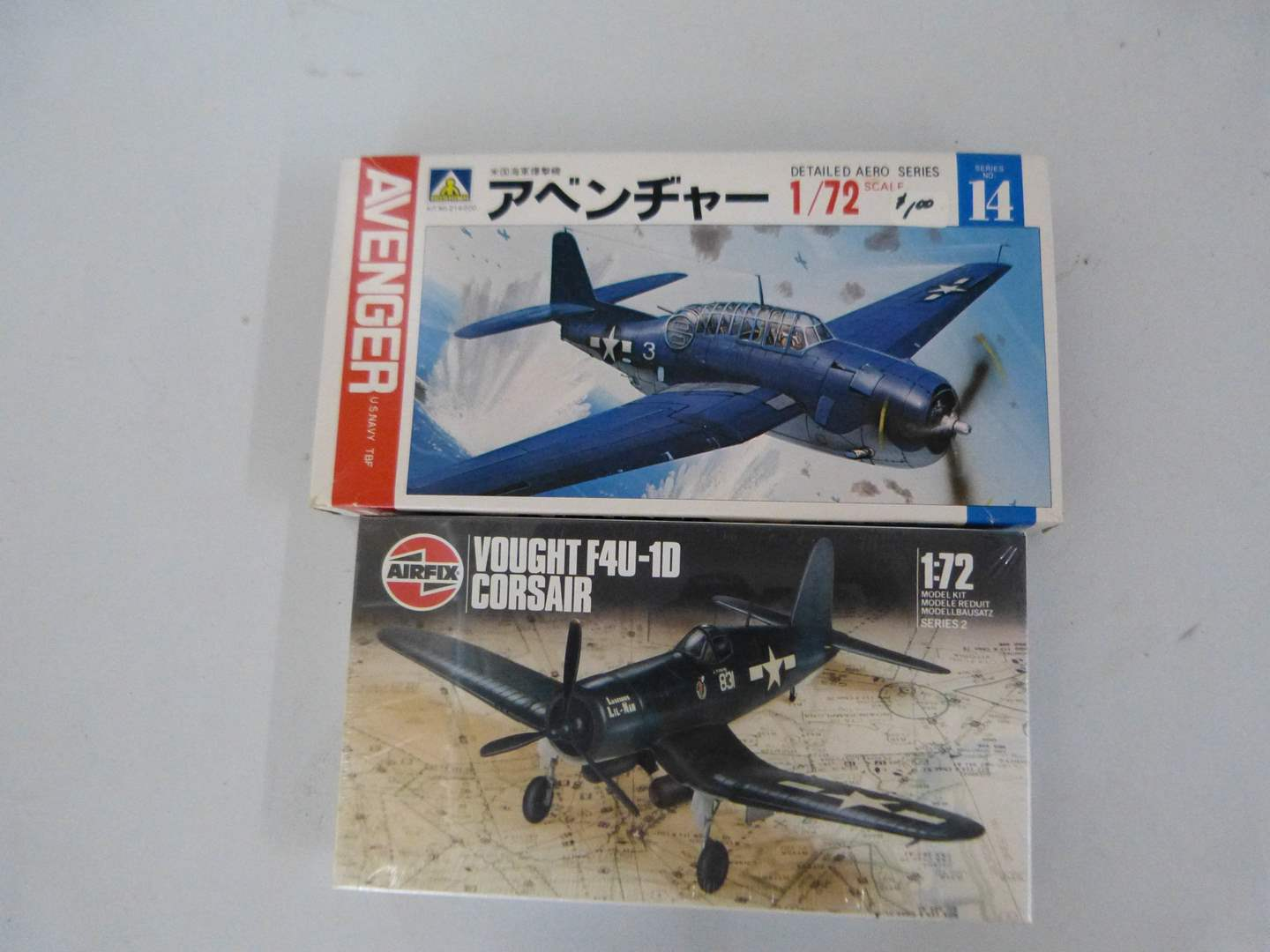 Lot # 256  Collection of vintage NEW model airplanes (main image)