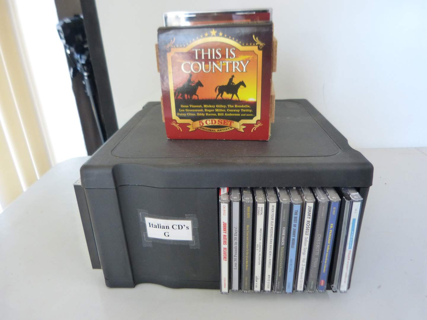 Lot # 258  Large collection of CD's with case (main image)