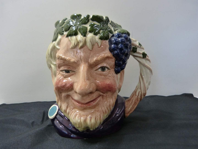 """Lot # 274  LARGE Royal Doulton Made in England Character Jug """"Bacchus"""" (main image)"""