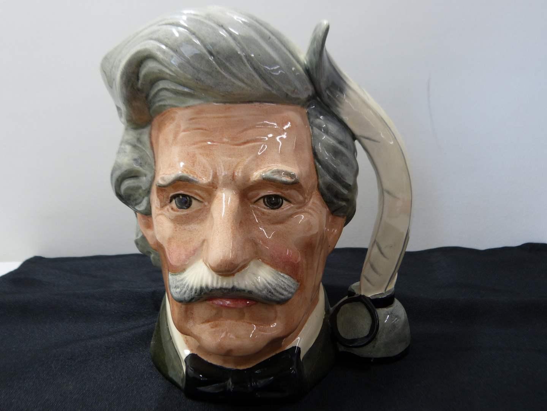 """Lot # 275  LARGE Royal Doulton Made in England Character Jug """"Mark Twain"""" (main image)"""