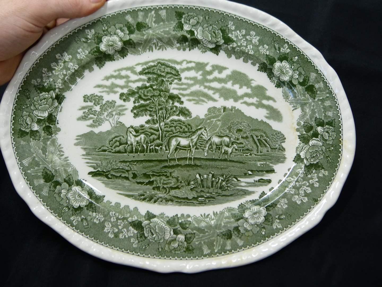 "Lot # 279  Great Adams transfer ware ""English Scenic"" platter (main image)"