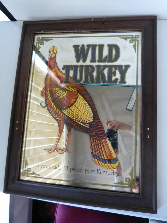 Lot # 290  Wild Turkey mirror bar sign (main image)