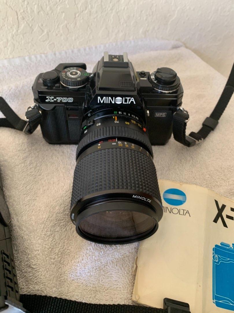 Lot # 12 Very Clean Minolta X-700 Camera With Flash & Manual