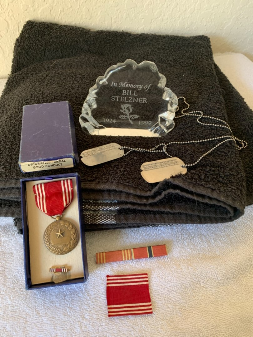 Lot #29 WW 2 Dog Tags/Medal In Box/Other. Goes With Lot 5. See Below