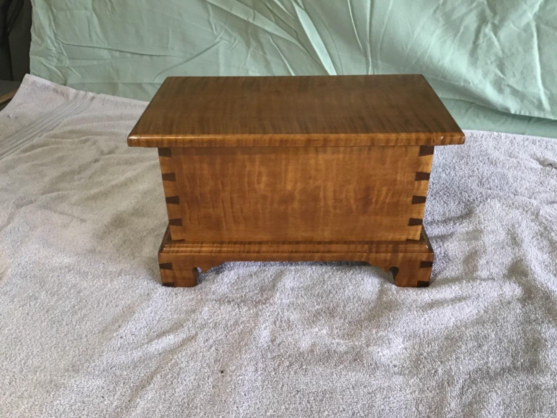 Lot # 44 Gorgeous Antique Tiger Maple Document Box - Beautiful Construction