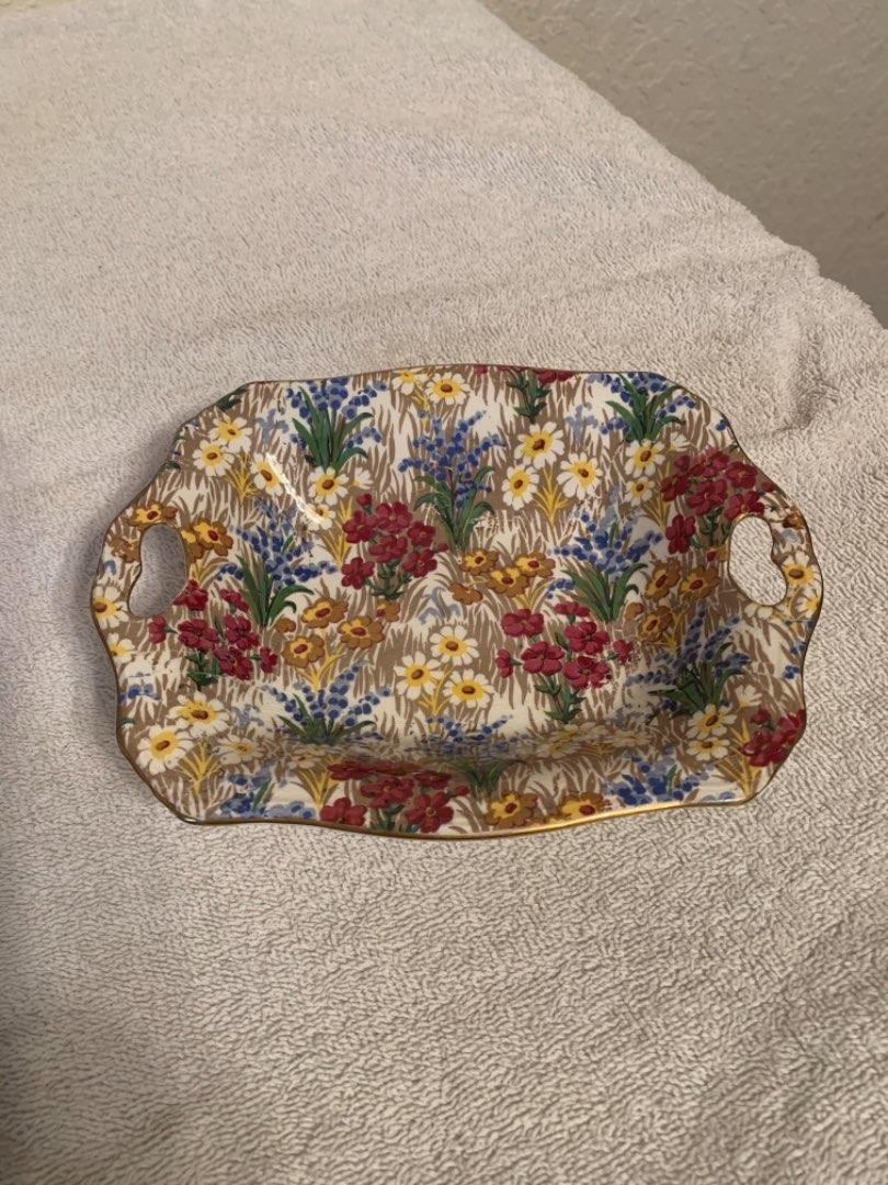 Lot # 49 Royal Winton Grimwades Marguerite China Handled Dish. See Below