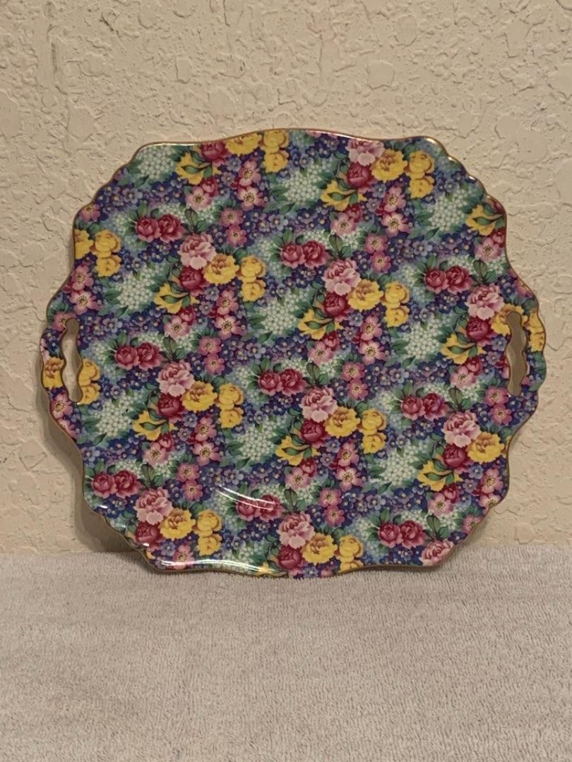 "Lot # 51 WOW..Gorgeous 11"" Royal Winton Grimwades Julia Chintz Platter. See Below"