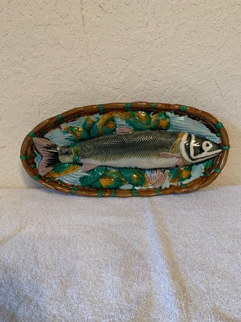 Lot # 64 Beautiful & Mint Condition Minton Porcelain Fish Plate