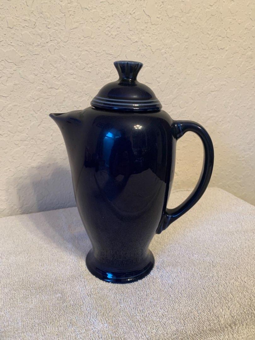 Lot # 70 Vintage Cobalt Blue Fiestaware Coffee Pot. See Below