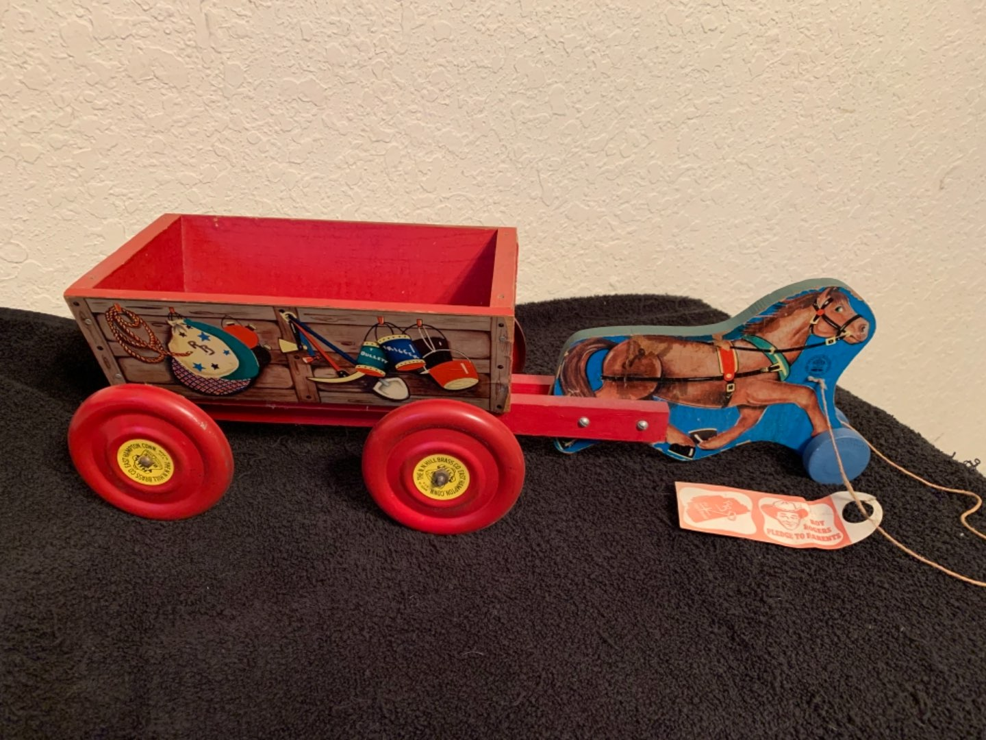 Lot # 103 Incredible Condition Vintage Roy Rogers Pull Toy. All Original! See Below