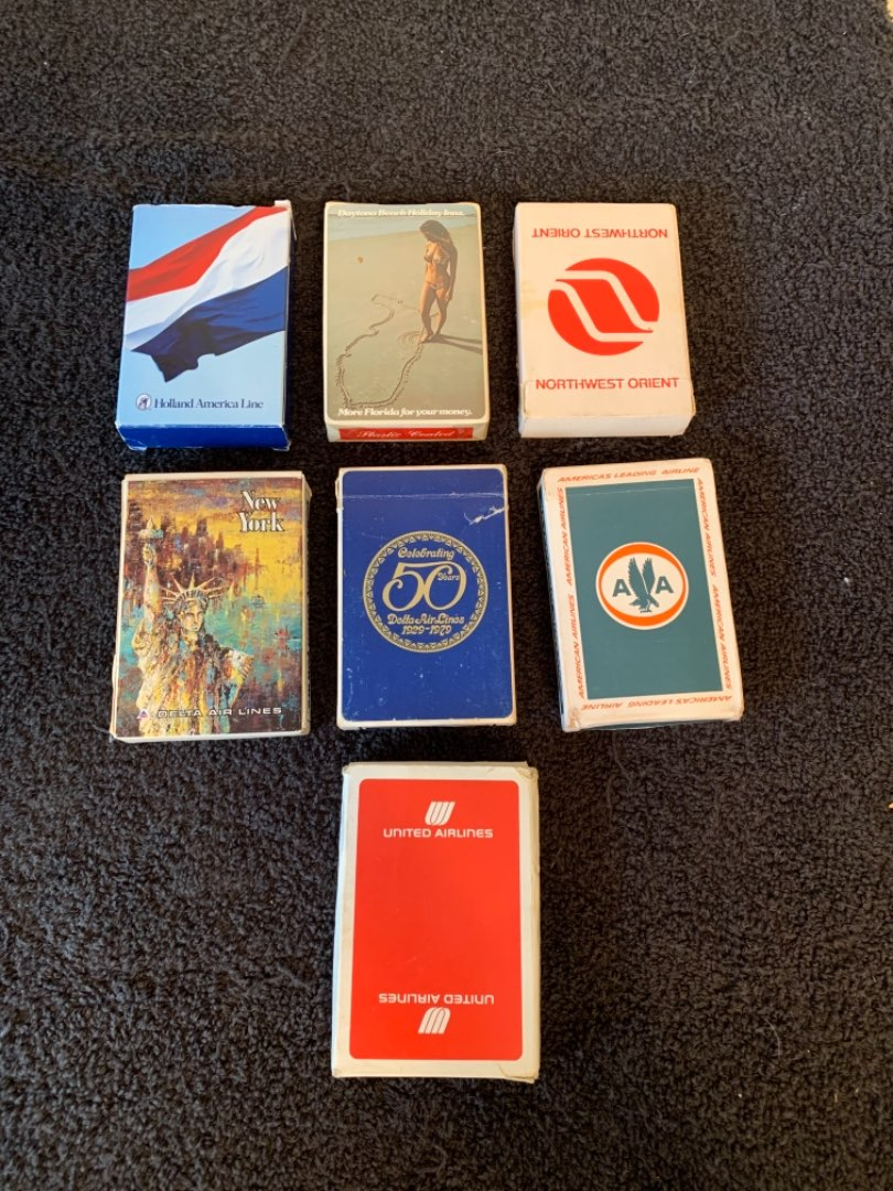 Lot # 106 Lot 7 Decks Collectible Cards. Daytona Beach, Airlines, & Cruise Ship