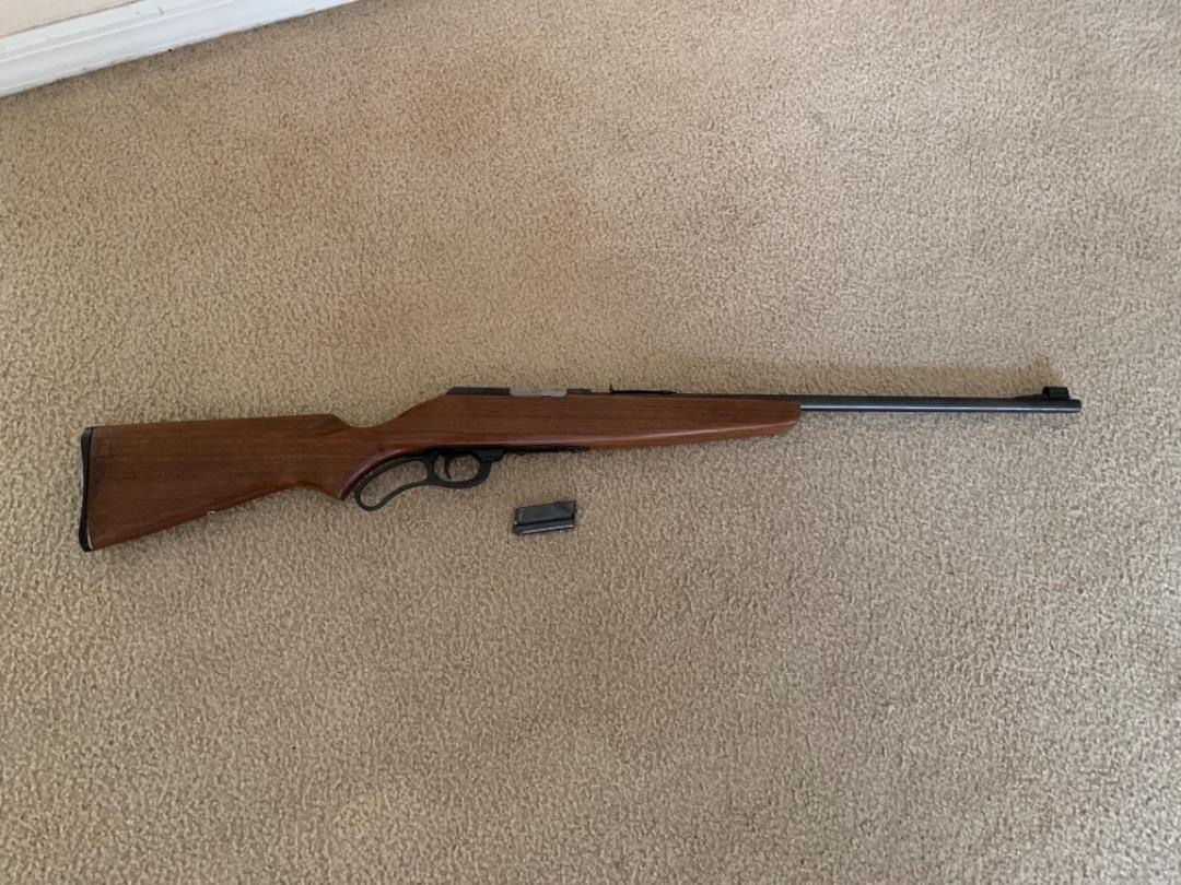 Lot # 119  Vintage Marlin Model 56-22 Cal Lever Action With Clip. See Below