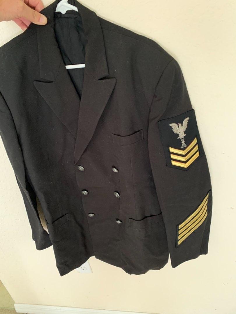 Lot # 136 Clean Vintage Navy Military Jacket. See Below
