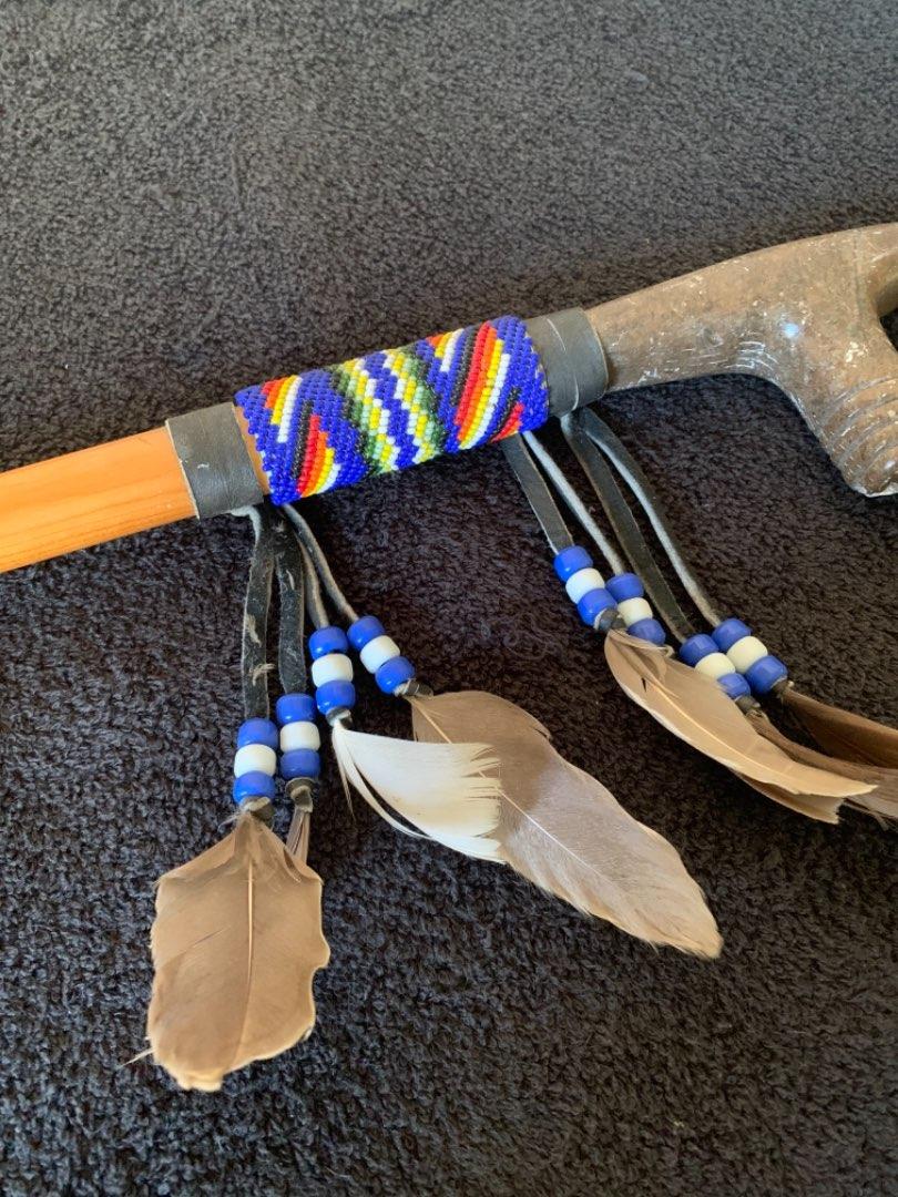 Lot # 166 Vintage Native American Beaded Stone Pipe?? See Below