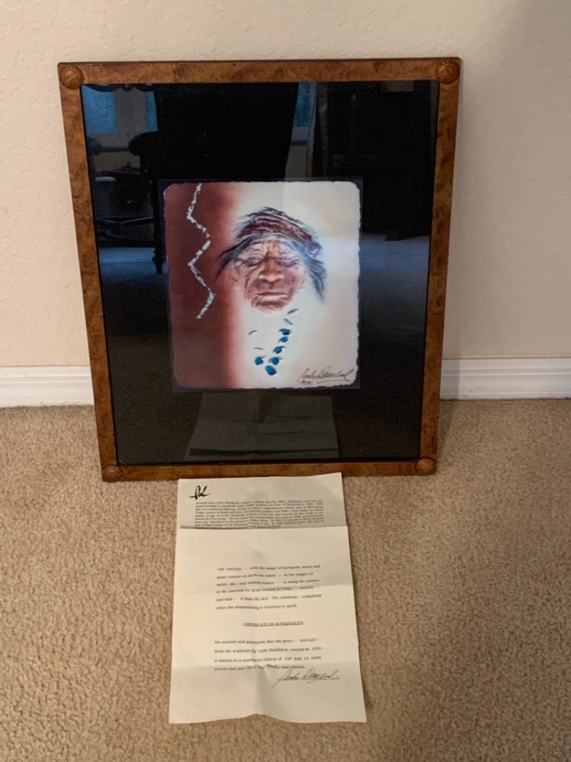 Lot # 170 Great 19/100 Limited Edition Artist Signed Navajo Carl Wahlbeck With COA