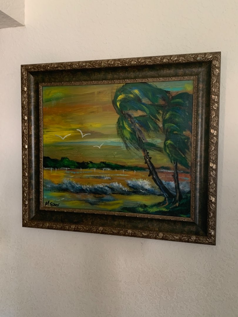 Lot # 172 Gorgeous Large Signed M. Sears Highwaymen( Style) Painting. See Below