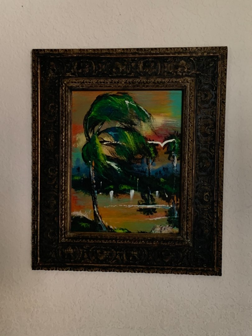 Lot # 179 Beautiful Signed M.Sears Highwaymen (Style) Painting. See Below
