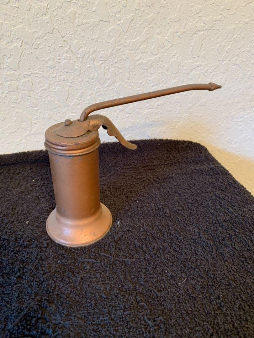 Lot # 193  Vintage Trigger Pump Eagle Oil Can