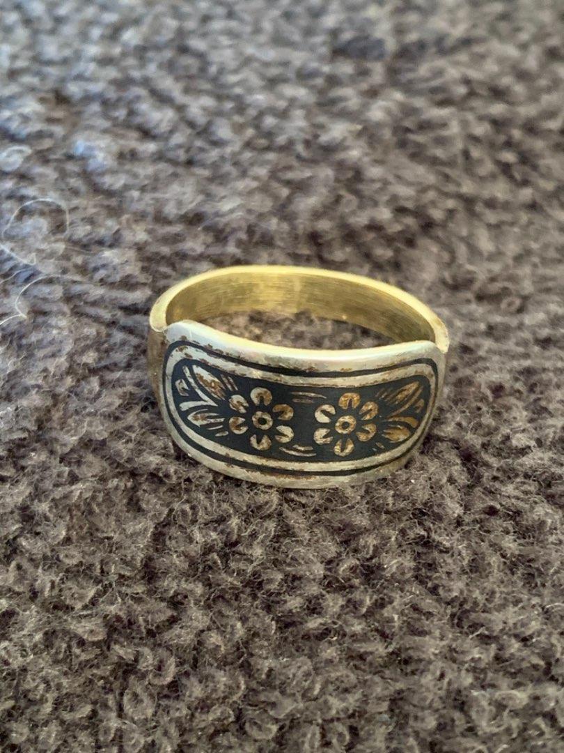 Lot # 207 Unusual Stamped 875(21k) & (835) Ring. 3.09 Grams. See Below