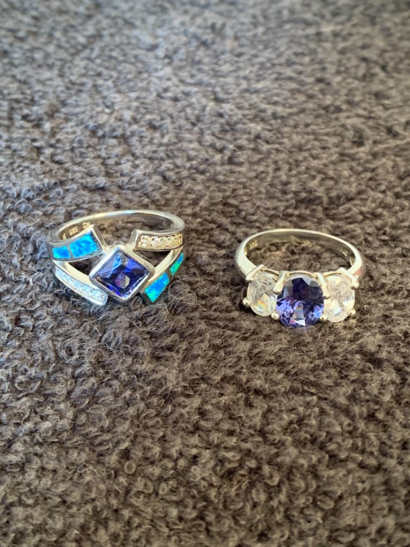 Lot # 209 Two Gorgeous Sterling Silver Rings. 8.80 Grams