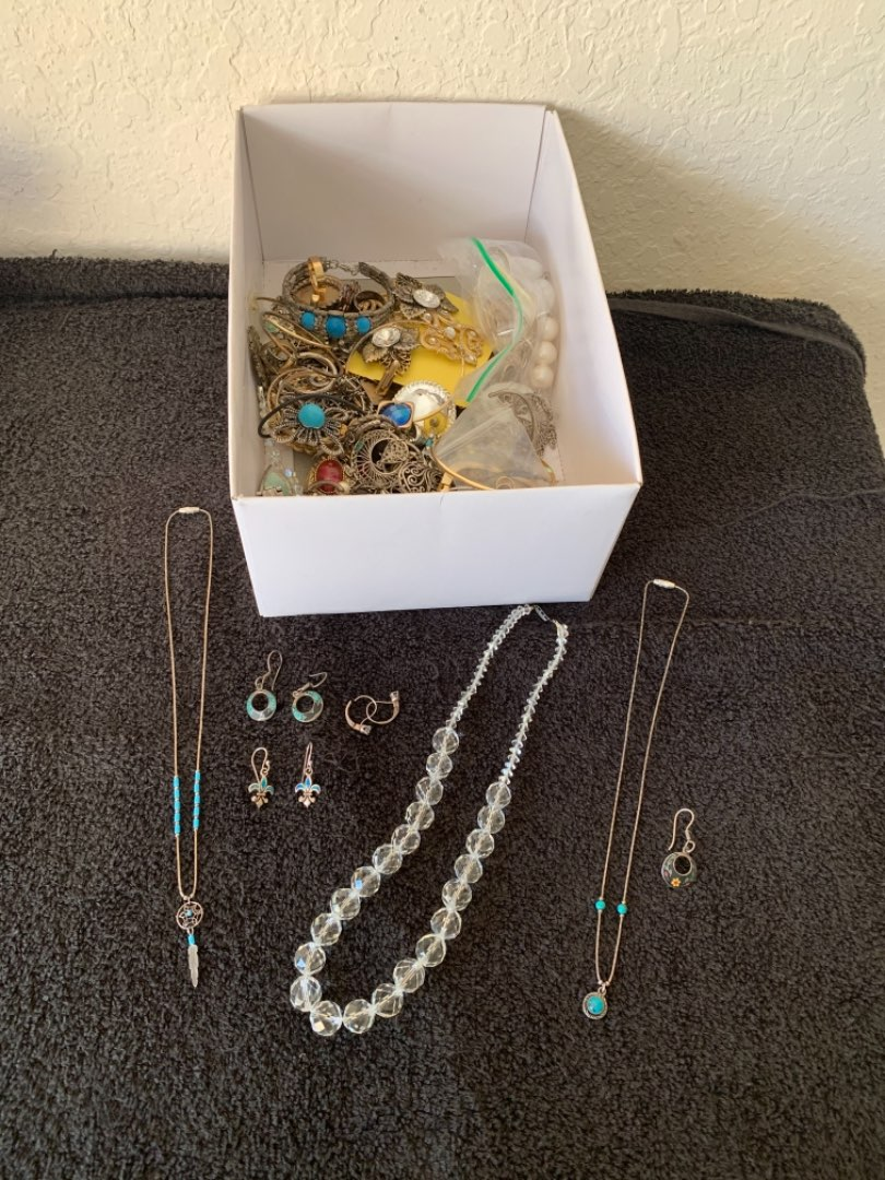 Lot # 211 Lot Vintage, New, Mixed Jewelry Including Some Sterling Silver