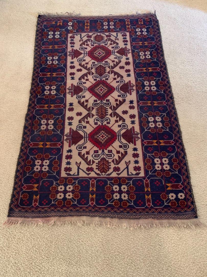"""Lot # 213 Nice Vintage Turkish Rug. 4'6"""" X 34""""."""