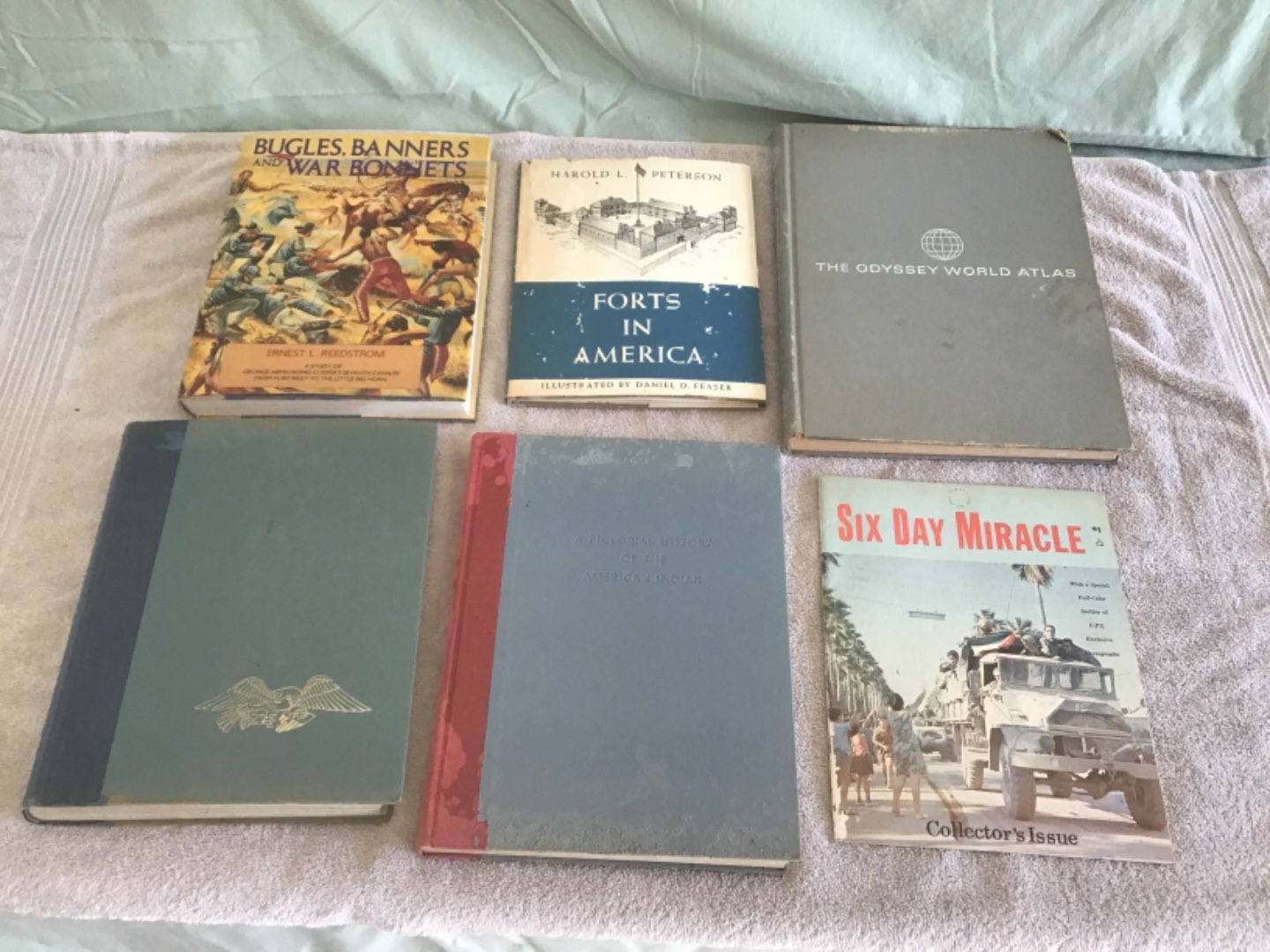 Lot # 219 Collection of Vintage Books - An Atlas, History of the American Indian, WW II Pictorial, etc.