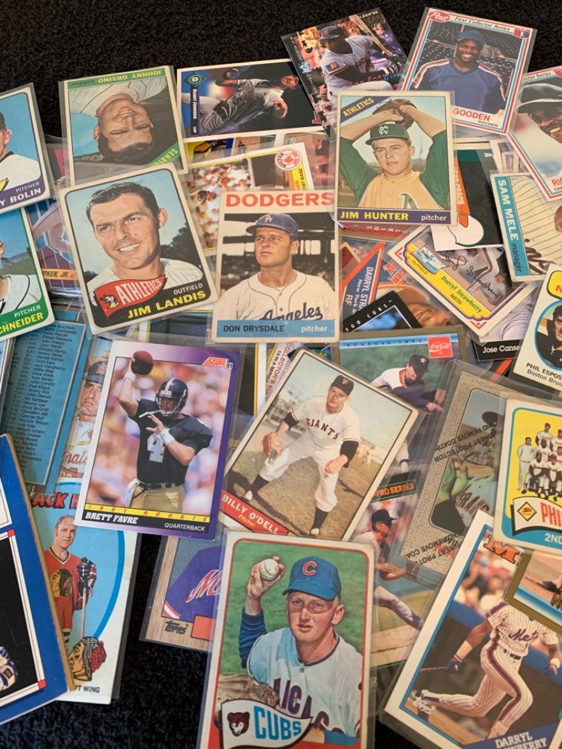 Lot # 226 Lot Assorted Vintage Sports Cards. See Below