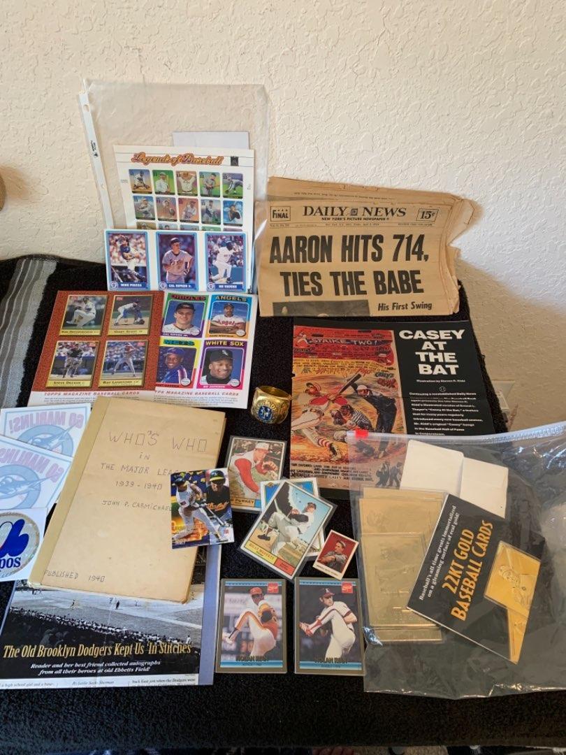 Lot # 230 Assortment Of Baseball Memorabilia. See Below