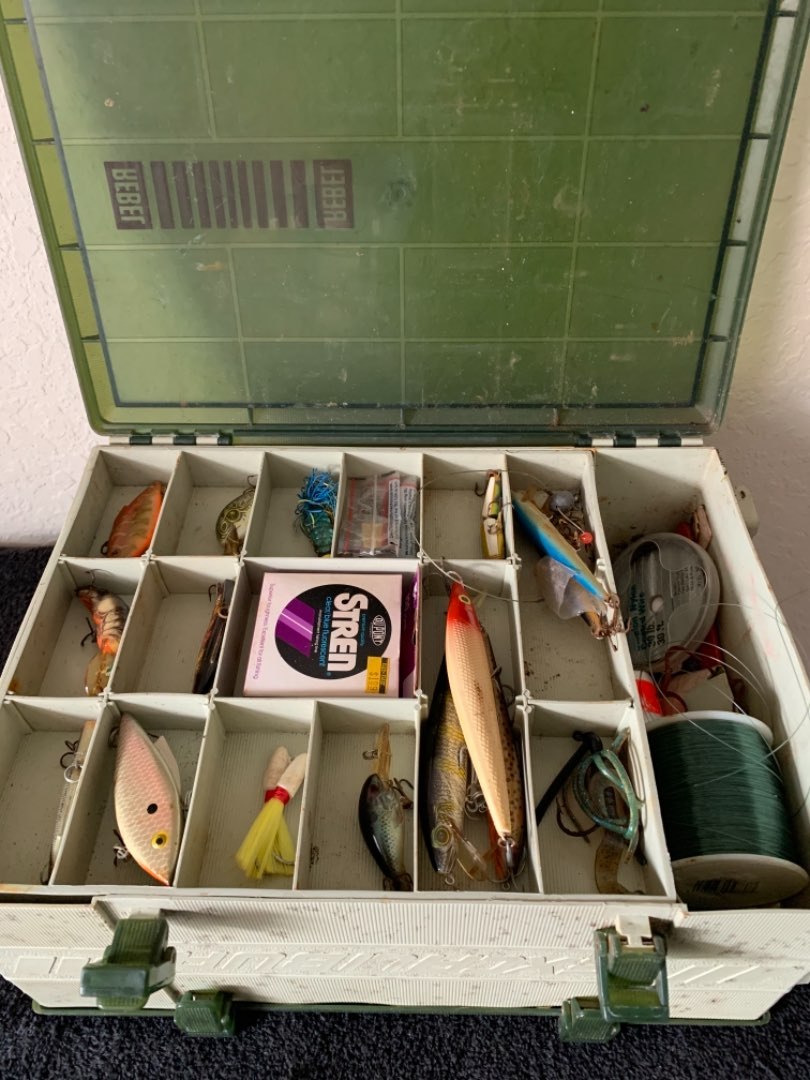 Lot # 235 Rebel 450 Excalibur Tackle Box Loaded. Everything You Need.