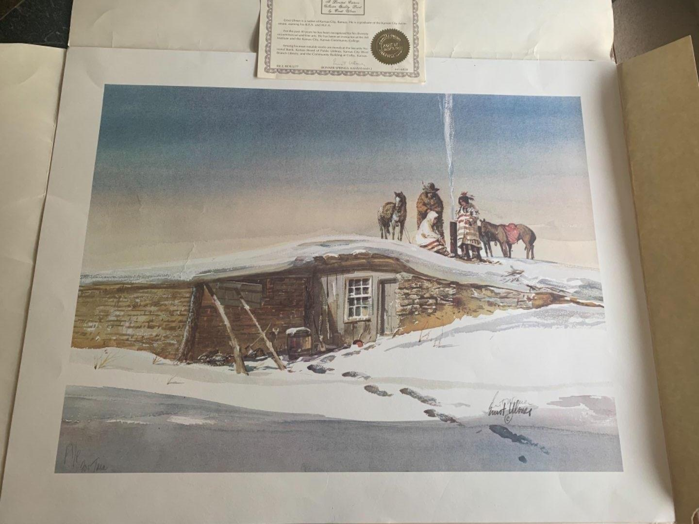 Lot # 238 Beautiful Signed Limited Edition Ernst Ulmer Print With COA