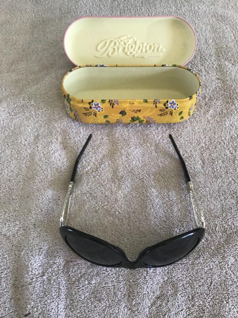 Lot # 253 Pair of Lady's Fancy BRIGHTON Sunglasses in Metal Designer Case