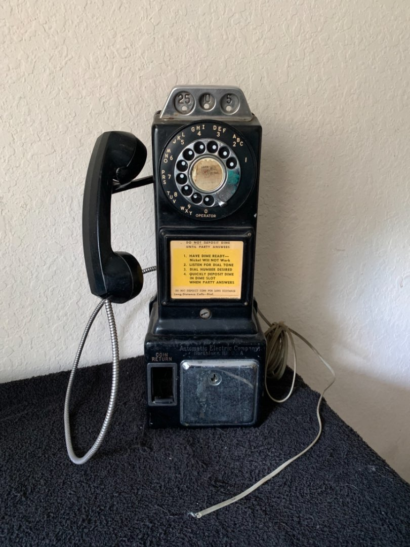 Lot # 266  Vintage Working Automatic Electric Company Pay Phone. Northlake, ILL. See Below