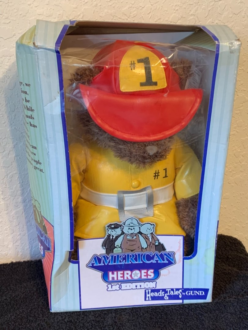 Lot # 270 Collectible Gund American Heroes 1st Edition Fireman Teddy Bear
