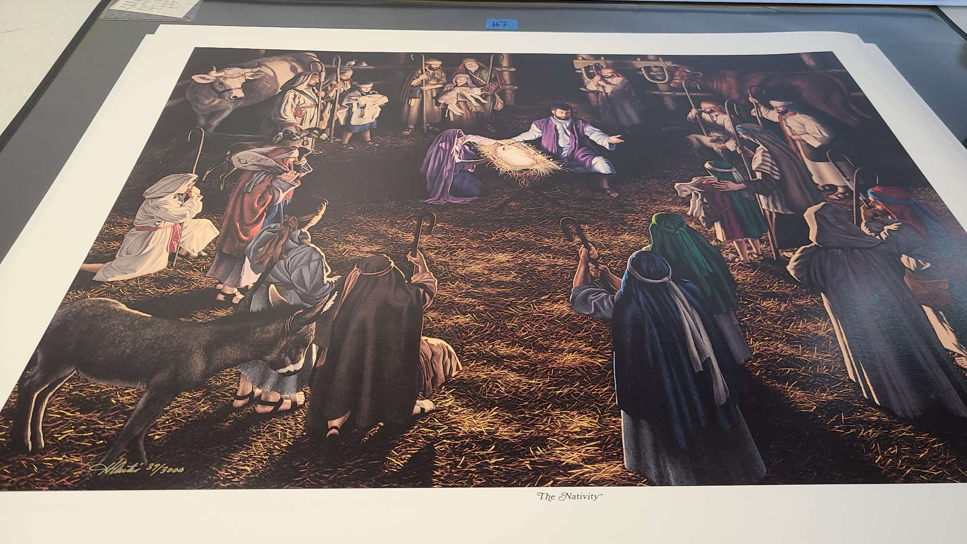 """Lot # 7 """"The Nativity"""" Signed & Numbered Lithograph"""