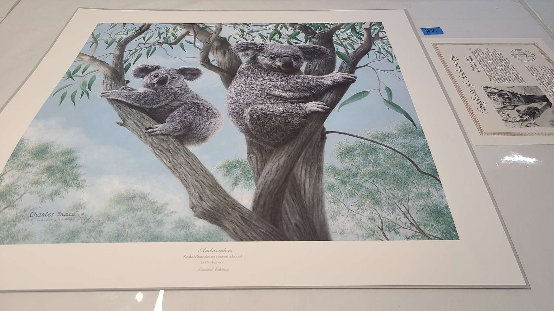 Lot # 10 Lot of 2 Animal Inspired Signed & Numbered Lithographs