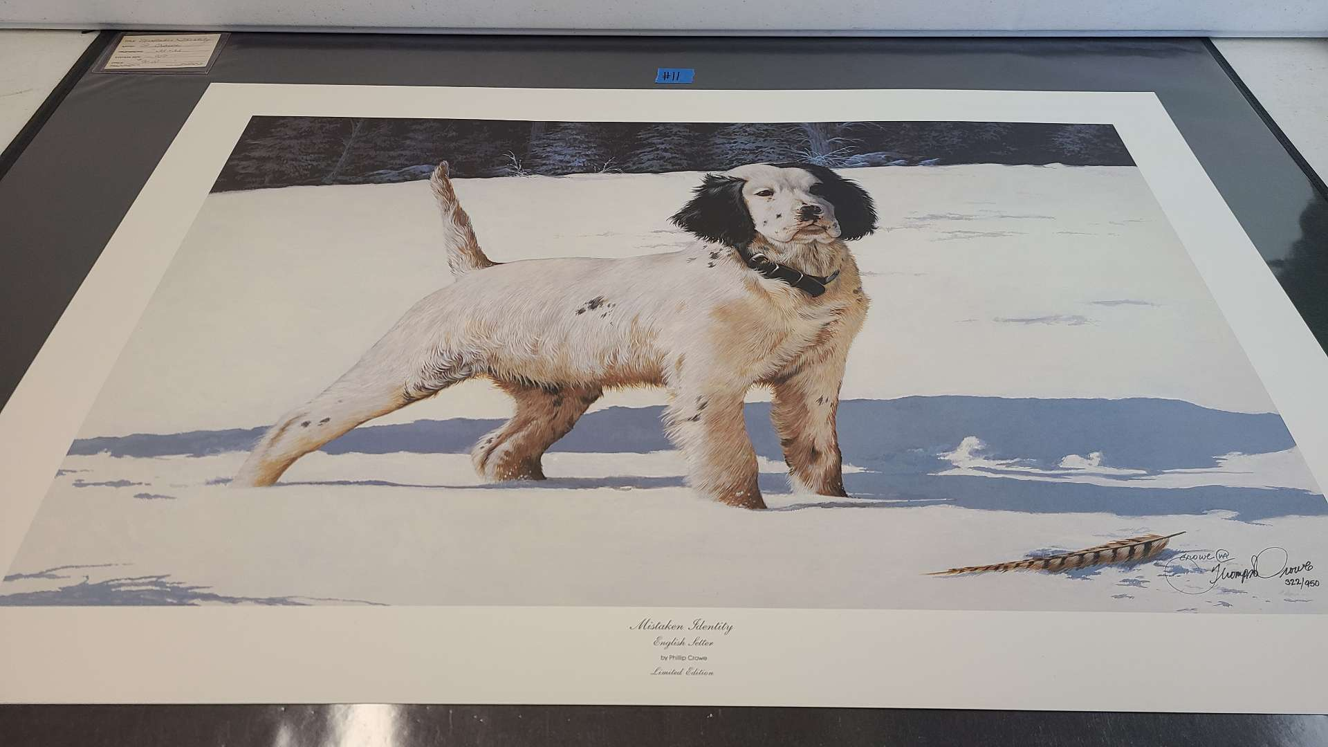 Lot # 11 Lot of 2 Phillip Crowe Dog Inspired Signed & Numbered Lithographs