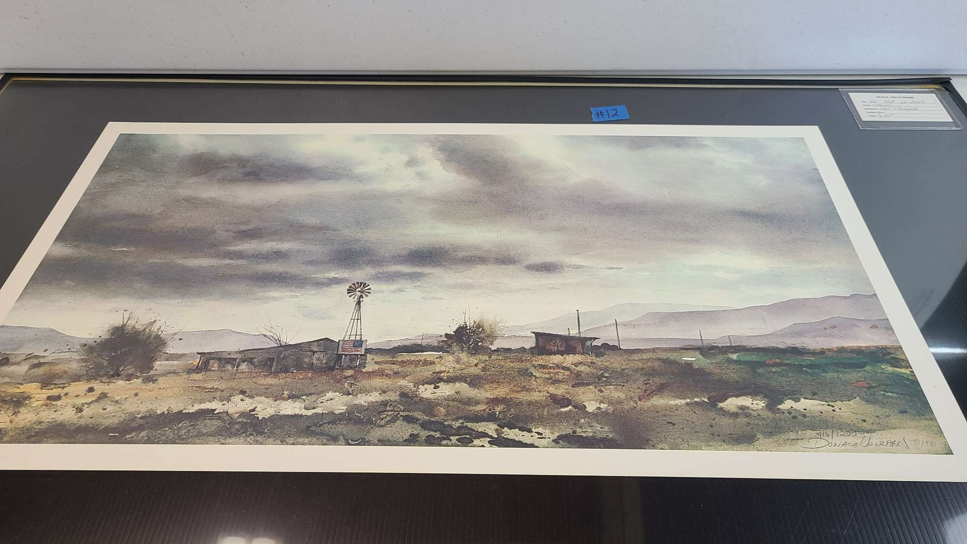 """Lot # 12 """"Old Windmill"""" & """"Old House"""" Signed & Numbered Lithogrqaphs"""