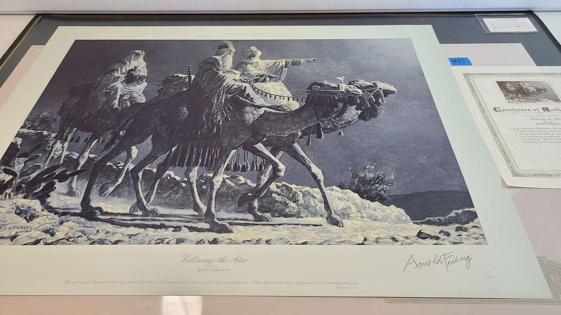 """Lot # 15 Arnold Friberg """"Following the Star"""" Signed & Numbered Lithograph W/ Certificate of Authenticity"""